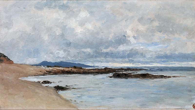 Haes, Carlos de -- Playa de Hendaya. Part 2 Prado Museum
