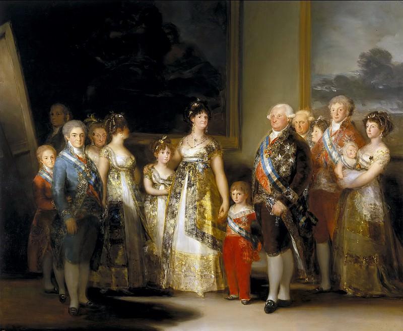 Гойя и Лусиентес, Франсиско де -- Семья Карла IV. Часть 2 Музей Прадо