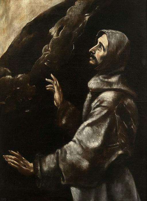 Аноним -- Святой Франциск в экстазе (копия эль Греко). Часть 2 Музей Прадо