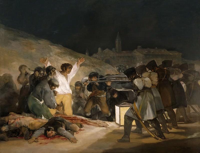 Goya y Lucientes, Francisco de -- El tres de mayo de 1808, o Los fusilamientos en la montaña del Príncipe Pío. Part 2 Prado Museum