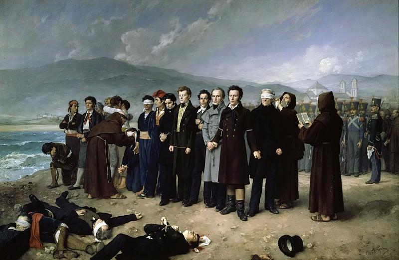 Гисберт Перес, Антонио -- Расстрел Торрихоса и его товарищей на пляжах Малаги. Часть 2 Музей Прадо
