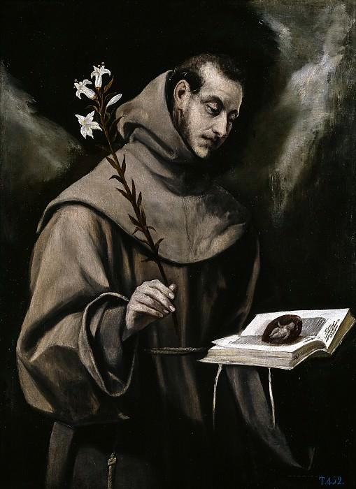 San Antonio de Padua. El Greco