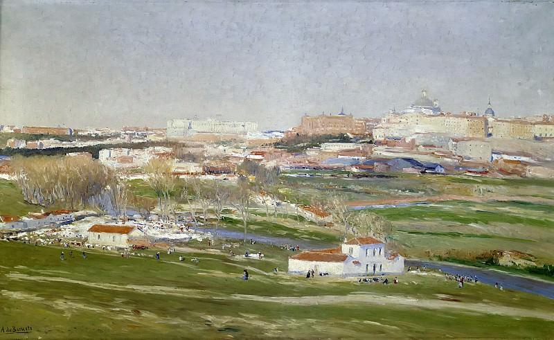 Беруэте и Морет, Аурелиано де -- Вид на луга Сан-Исидро в Мадриде. Часть 2 Музей Прадо