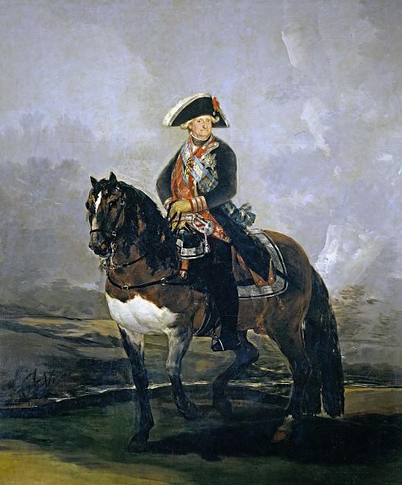 Goya y Lucientes, Francisco de -- Carlos IV a caballo. Part 2 Prado Museum