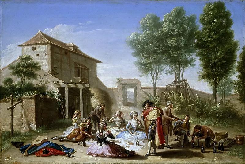 Bayeu y Subías, Francisco -- Merienda en el campo. Part 2 Prado Museum