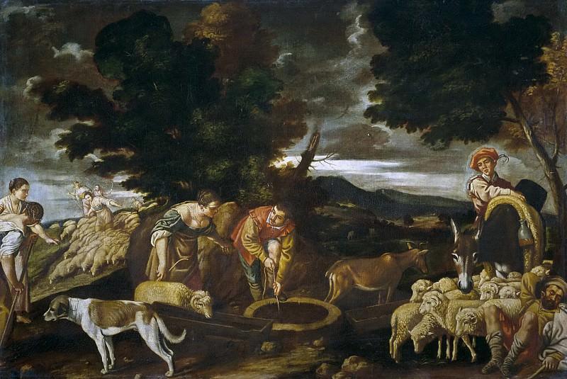 Anónimo (Taller de Orrente, Pedro de) -- Jacob y Raquel en el pozo abrevando los rebaños. Part 2 Prado Museum