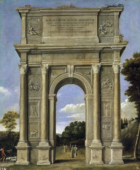Domenichino -- Arco de triunfo. Part 2 Prado Museum