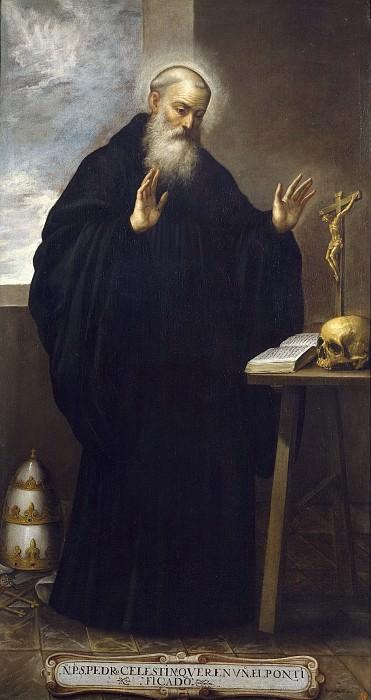 Román, Bartolomé -- San Pedro Celestino, papa. Part 2 Prado Museum