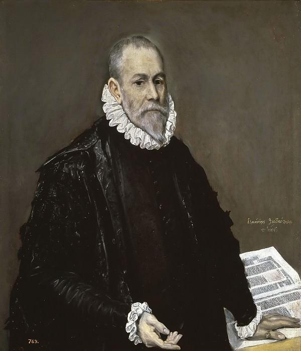 Греко, эль -- Портрет врача (Родриго де ла Фуэнте?). Часть 2 Музей Прадо