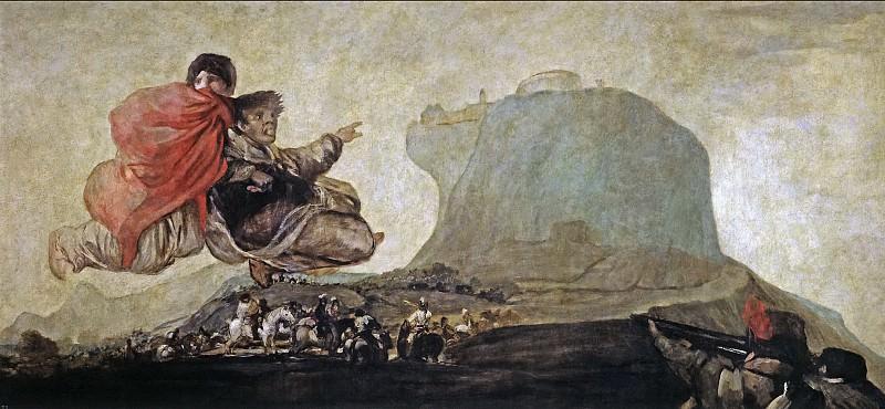 Goya y Lucientes, Francisco de -- Al aquelarre, o Asmodea. Part 2 Prado Museum