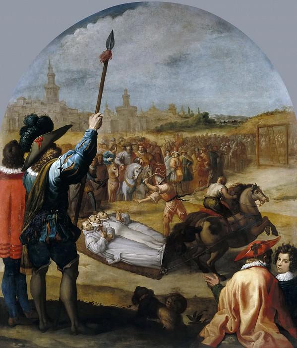 Carducho, Vicente -- El martirio de tres cartujos en la cartuja de Londres. Part 2 Prado Museum