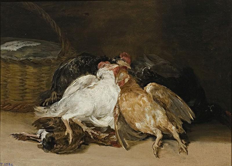 Goya y Lucientes, Francisco de -- Aves muertas. Part 2 Prado Museum