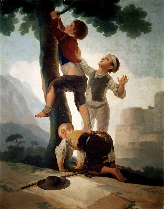 Гойя и Лусиентес, Франсиско де -- Взбирание на дерево. Часть 2 Музей Прадо