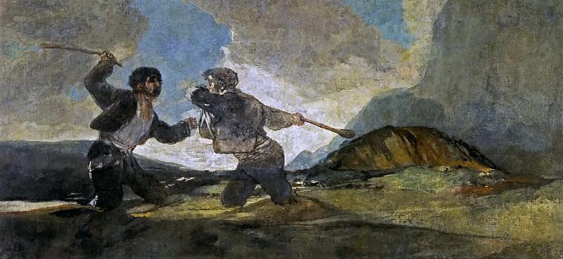 Гойя и Лусиентес, Франсиско де -- Дуэль с дубинами. Часть 2 Музей Прадо