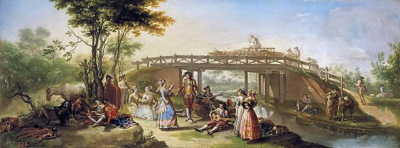 Bayeu y Subías, Francisco -- El puente del Canal de Madrid. Part 2 Prado Museum