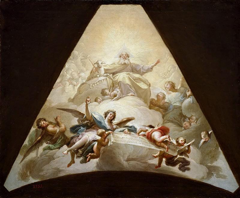 Bayeu y Subías, Francisco -- El Triunfo del Cordero de Dios. Part 2 Prado Museum