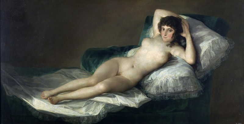 Goya y Lucientes, Francisco de -- La maja desnuda. Part 2 Prado Museum