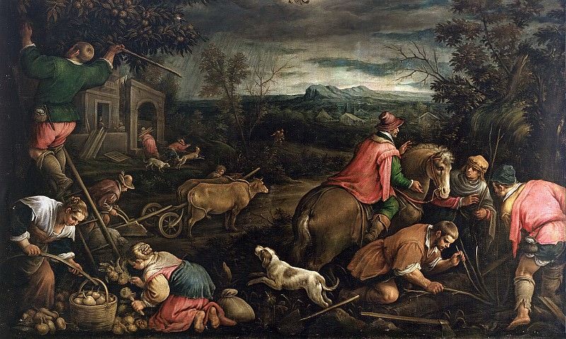 Bassano, Francesco -- Octubre (Escorpión). Part 2 Prado Museum