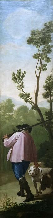 Goya y Lucientes, Francisco de -- Cazador con sus perros. Part 2 Prado Museum