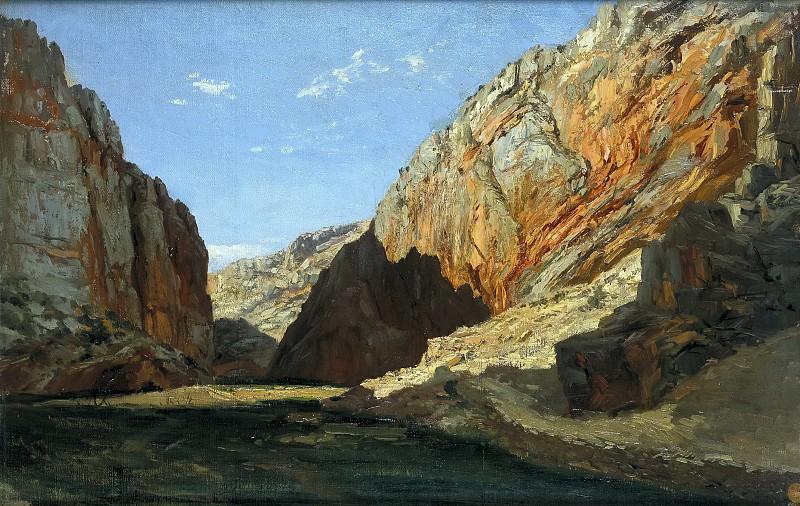 Haes, Carlos de -- Desfiladero (Jaraba de Aragón). Part 2 Prado Museum