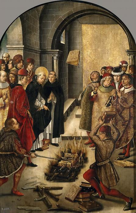Берругете, Педро -- Святой Доминик сжигает книги еретиков. Часть 2 Музей Прадо
