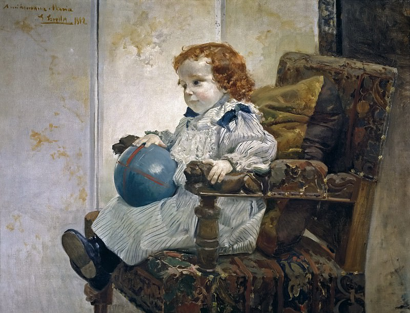 Sorolla y Bastida, Joaquín -- El niño Jaime García Banús. Part 2 Prado Museum