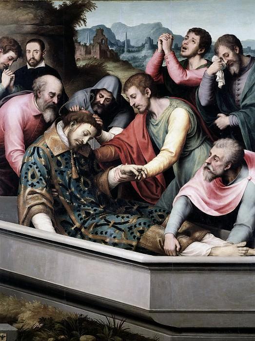 Juanes, Juan de -- Entierro de San Esteban. Part 2 Prado Museum