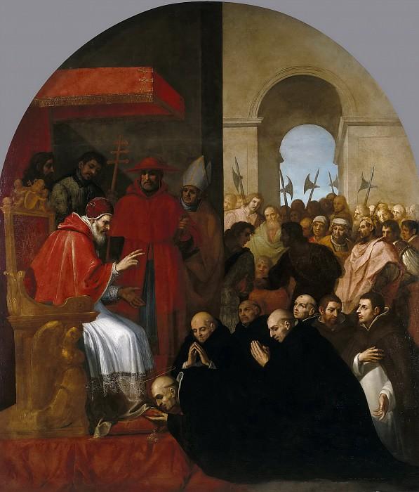Кардучо, Висенте -- Св Бруна со своими соратниками на приеме Урбана II. Часть 2 Музей Прадо