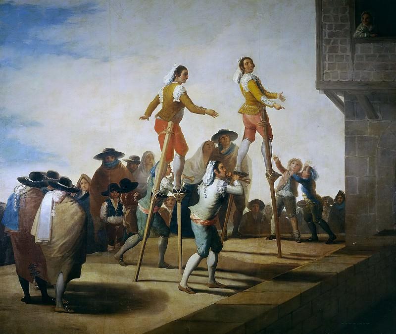 Goya y Lucientes, Francisco de -- Los zancos. Part 2 Prado Museum