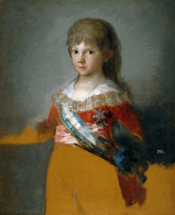 Goya y Lucientes, Francisco de -- Francisco de Paula Antonio de Borbón y Borbón-Parma, infante de España. Part 2 Prado Museum