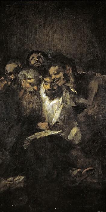 Гойя и Лусиентес, Франсиско де -- Чтение или политики. Часть 2 Музей Прадо
