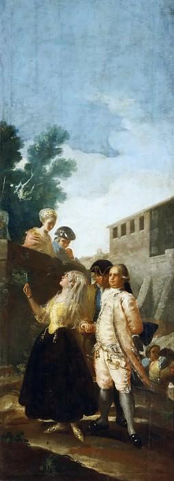 Гойя и Лусиентес, Франсиско де -- Военный и сеньора. Часть 2 Музей Прадо