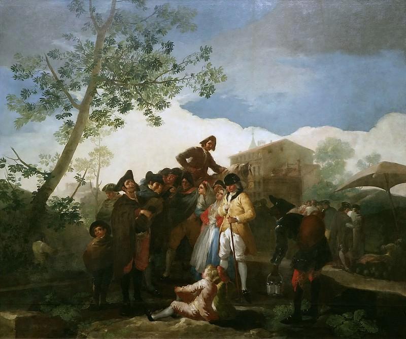 Goya y Lucientes, Francisco de -- El ciego de la guitarra. Part 2 Prado Museum