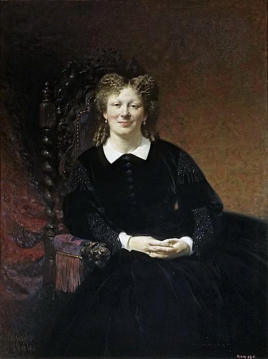 Касадо дель Алисаль, Хосе -- Портрет француженки. Часть 2 Музей Прадо