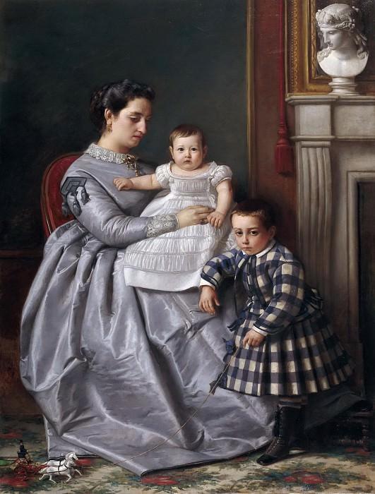 Manzano y Mejorada, Víctor -- Retrato de la familia del pintor. Part 2 Prado Museum