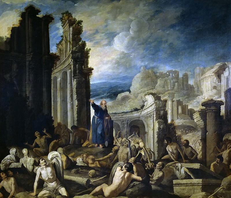 Collantes, Francisco -- Visión de Ezequiel: la resurrección de la carne. Part 2 Prado Museum