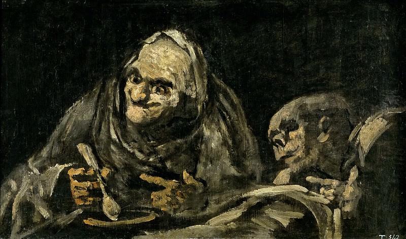 Goya y Lucientes, Francisco de -- Dos viejos comiendo. Part 2 Prado Museum