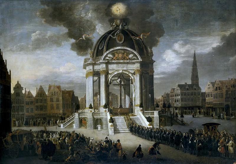 Minderhout, Hendrik van -- La procesión de Cristo Redentor en Amberes, 27 de agosto de 1685.. Part 2 Prado Museum