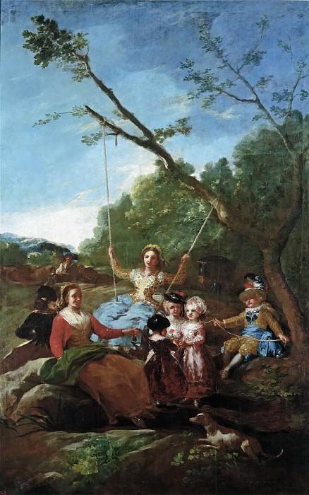 Гойя и Лусиентес, Франсиско де -- Качели. Часть 2 Музей Прадо