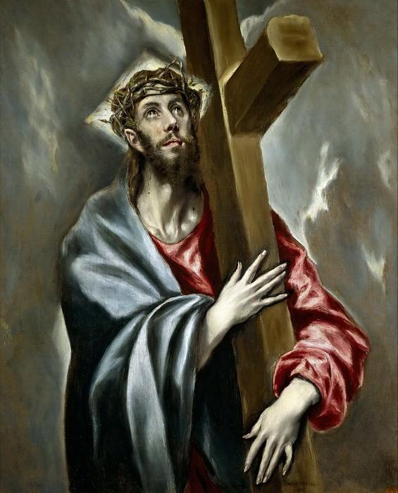 El Greco -- Cristo abrazado a la Cruz. Part 2 Prado Museum