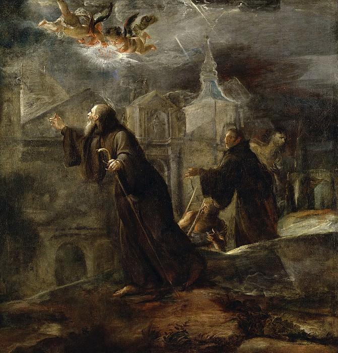 Jiménez Donoso, José -- Vision de San Francisco de Paula. Part 2 Prado Museum