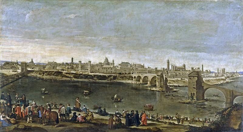 Martínez del Mazo, Juan Bautista -- Vista de la ciudad de Zaragoza. Part 2 Prado Museum