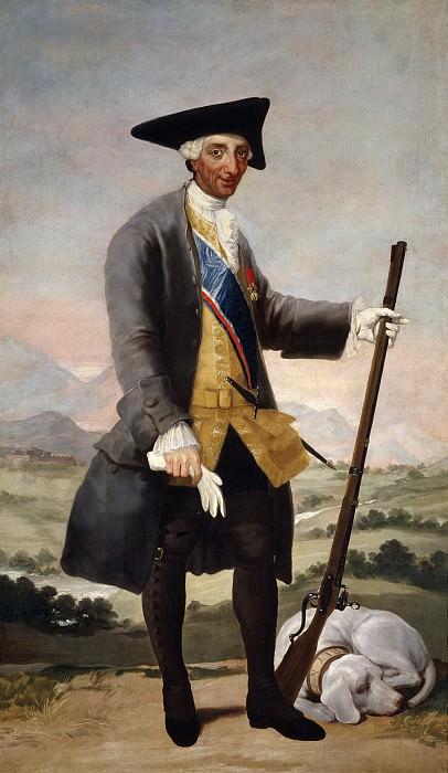 Goya y Lucientes, Francisco de -- Carlos III, cazador. Part 2 Prado Museum