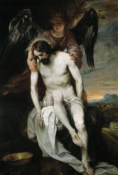 Cano, Alonso -- Cristo muerto sostenido por un ángel. Part 2 Prado Museum