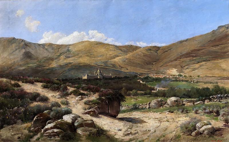 Borrell Vidal, Félix -- Paisaje de El Escorial. Part 2 Prado Museum