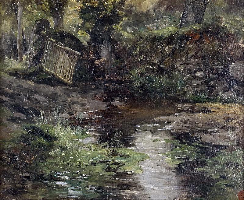 Haes, Carlos de -- Un arroyo (Pont-Aven). Part 2 Prado Museum