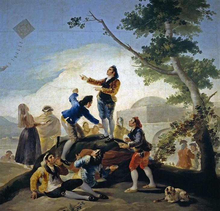 Goya y Lucientes, Francisco de -- La cometa. Part 2 Prado Museum