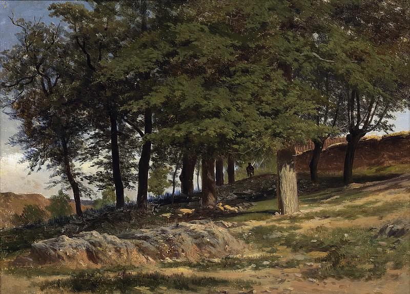 Haes, Carlos de -- Un bosque. Monasterio de Piedra. Part 2 Prado Museum
