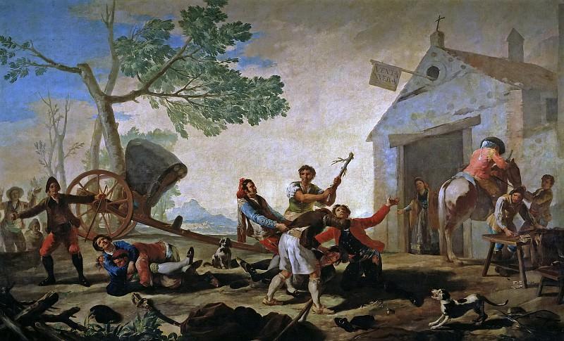 Гойя и Лусиентес, Франсиско де -- Драка у таверны. Часть 2 Музей Прадо