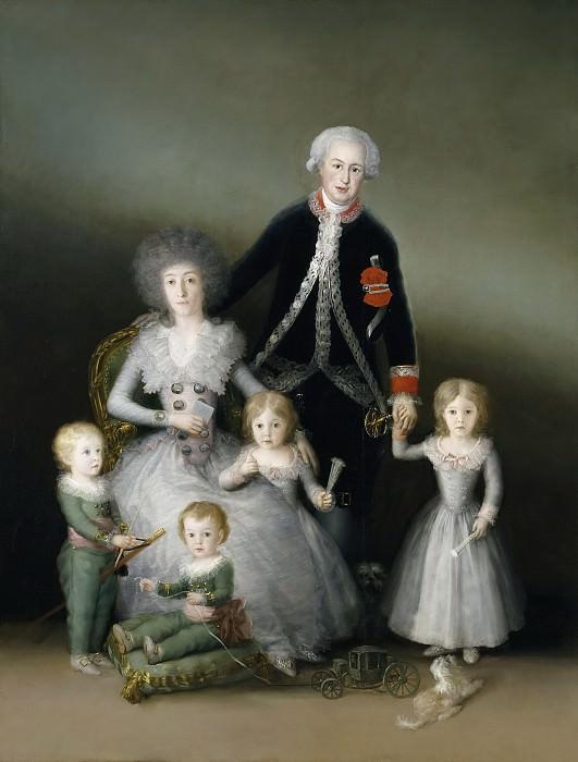 Goya y Lucientes, Francisco de -- Los duques de Osuna y sus hijos. Part 2 Prado Museum